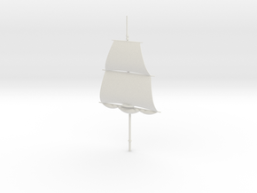 1/300 Frigate Mainmast V2 in White Strong & Flexible