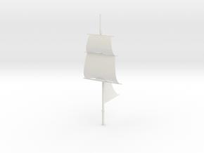 1/300 Frigate Mizzenmast V2 (No Course) in White Natural Versatile Plastic