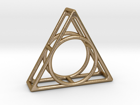 Simply Shapes Pendants Triangle in Polished Gold Steel