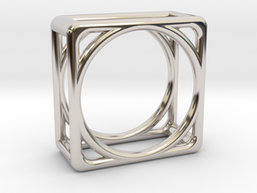 Simply Shapes Pendants Cube in Rhodium Plated Brass
