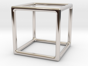 Simply Shapes Homewares Cube in Rhodium Plated Brass