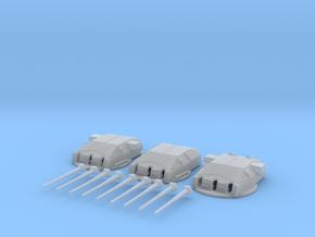 1/192DKM Schanhorst28cm turrets SET in Smooth Fine Detail Plastic