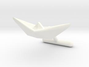 cuff links paper ship l in White Processed Versatile Plastic