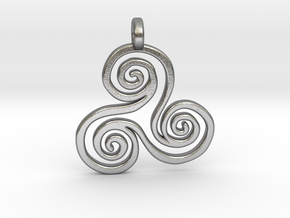 Triskell pendant in Raw Silver
