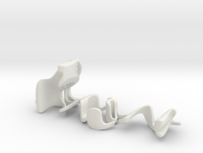 3dWordFlip: luv/YOU in White Natural Versatile Plastic