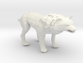 wolf in White Natural Versatile Plastic