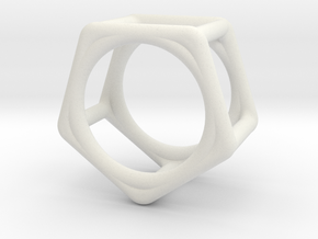 Simply Shapes Rings Pentagon in White Natural Versatile Plastic: 3.25 / 44.625