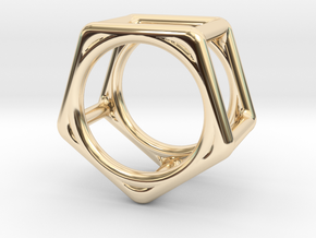 Simply Shapes Rings Pentagon in 14K Yellow Gold: 3.25 / 44.625
