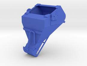 1:50 - 3 Cu yard laydown bucket extended gate in Blue Processed Versatile Plastic