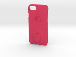 iPhone 8 Wahoo Mount Case - Hill Climb in Pink Processed Versatile Plastic