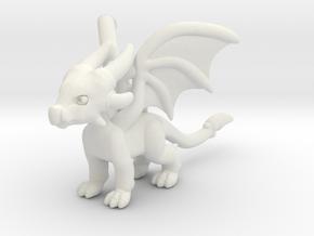 Cynder the Dragon Pendant/charm in White Premium Versatile Plastic