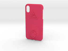 iPhone X Wahoo Mount Case - Hill Climb in Pink Processed Versatile Plastic