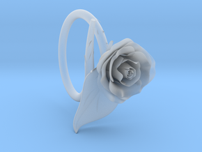 Rose Ring in Smooth Fine Detail Plastic
