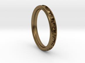 Destroyed ring - Size 9 in Natural Bronze