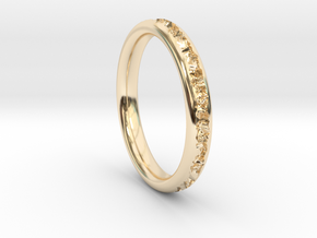 Destroyed ring - Size 9 in 14k Gold Plated Brass