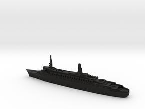 1:2400 Queen Elizabeth 2 QE2 (1969) in Black Premium Versatile Plastic