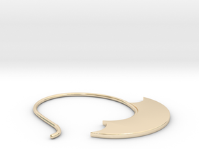 Small hoop (EarringSWH1aa) in 14k Gold Plated Brass