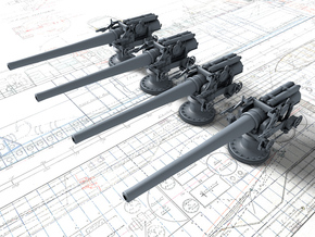 1/350 BL 6 Inch MKXII Coastal Battery x4 in Smoothest Fine Detail Plastic