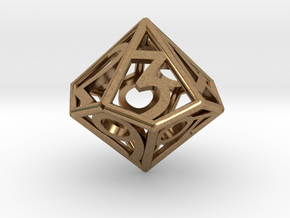 D10 Balanced - Numbers Only in Natural Brass