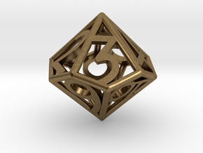 D10 Balanced - Numbers Only in Natural Bronze
