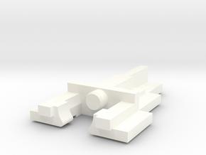 Alps Short Stem (Alps SKCC Cream) keyswitch stem in White Processed Versatile Plastic