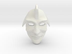Samurai Mask  in White Natural Versatile Plastic