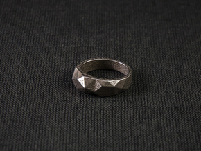 Tri Morph Ring in Polished Bronzed Silver Steel