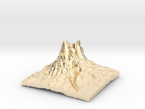 Mountain 3 in 14k Gold Plated Brass: Small