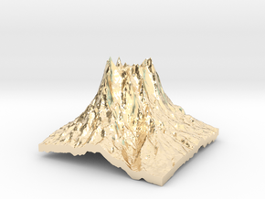Mountain 2 in 14k Gold Plated Brass: Small