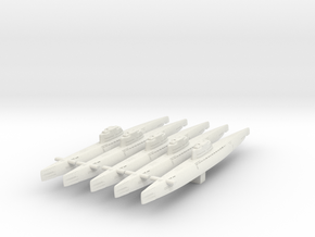 5 type XXI Submarine in White Natural Versatile Plastic
