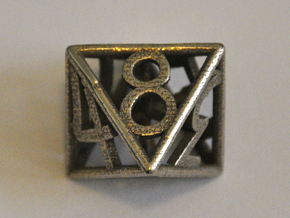 D8 Balanced - Numbers Only in Polished Bronzed Silver Steel