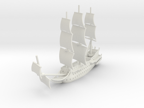 1/700 Man-of-War in White Natural Versatile Plastic