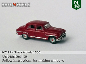 Simca Aronde 1300 (N 1:160) in Smoothest Fine Detail Plastic