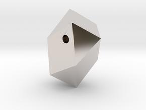 Go Geometric Pendant Egg in Rhodium Plated Brass