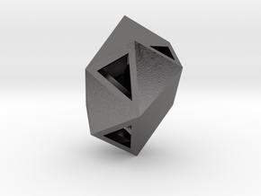 Go Geometric Pendant Egg Open in Polished Nickel Steel