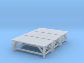 HO Work Table 3pc in Smooth Fine Detail Plastic