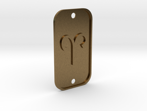 Aries (The Ram) DogTag V1 in Natural Bronze