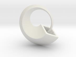 Ouroboros in White Natural Versatile Plastic