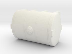 1/50th Ten foot long Poly type leg tank in White Natural Versatile Plastic