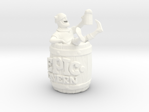 Epic Tavern Drunk Barrel in White Processed Versatile Plastic