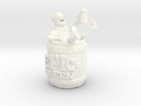 Epic Tavern Drunk Barrel in White Processed Versatile Plastic