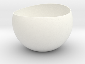 Rounded Egg Planter in White Processed Versatile Plastic