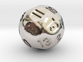 d19 Sphere Dice in Platinum