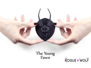 The Young Fawn Mini Faux Taxidermy in Black Natural Versatile Plastic