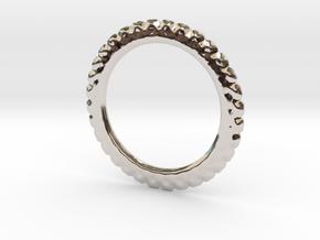 Soften ring shape for earrings or pendant in Rhodium Plated Brass