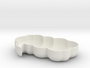 Think Bubble Bowl in White Natural Versatile Plastic