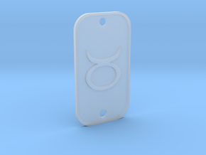 Taurus (The Bull) DogTag V1 in Smoothest Fine Detail Plastic