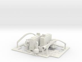 2 x Mini Gun 1/24  Pole Mount in White Natural Versatile Plastic