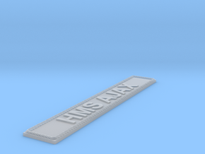 Nameplate HMS AJAX in Smoothest Fine Detail Plastic