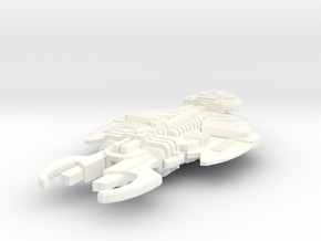 Rokell Class Cardassian Destroyer in White Strong & Flexible Polished
